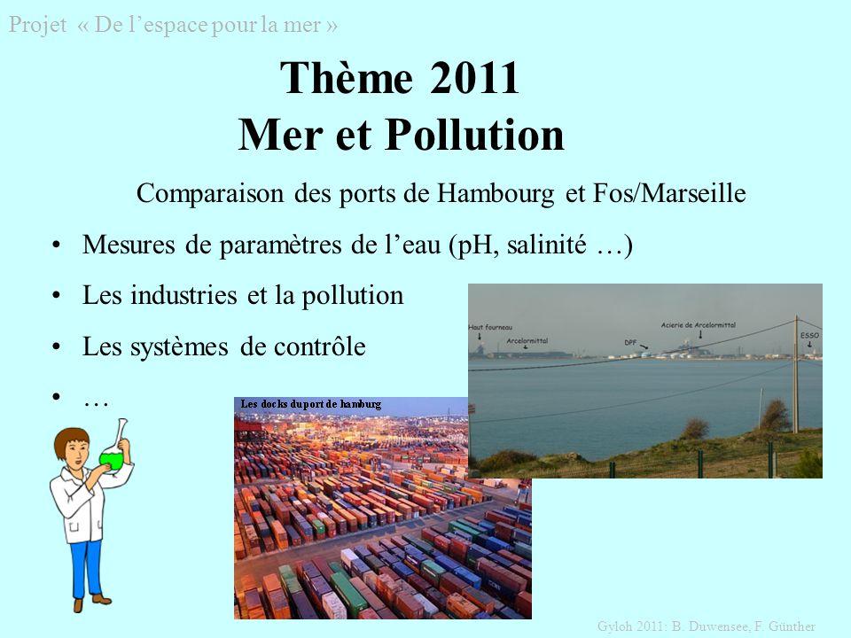 Projet « De lespace pour la mer » Gyloh 2011: B. Duwensee, F.