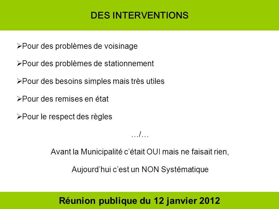 Nous sommes nombreux à vouloir des explications ou à ne pas être daccord Réunion publique du 12 janvier 2012
