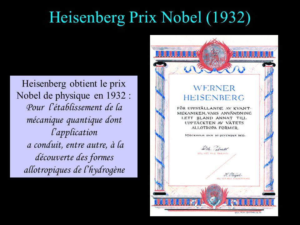Heisenberg professeur