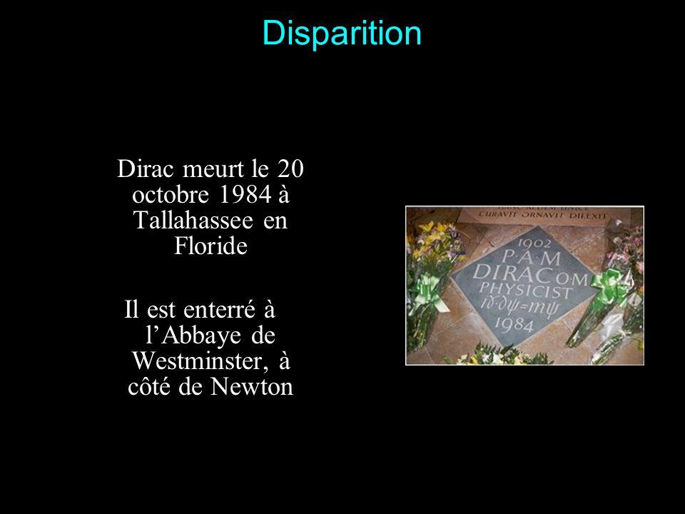 Anecdote Lors dun dîner mondain, Dirac est assis à côté dun ministre (qui connaissait la réserve du savant). Le vent soufflant très fort, le ministre