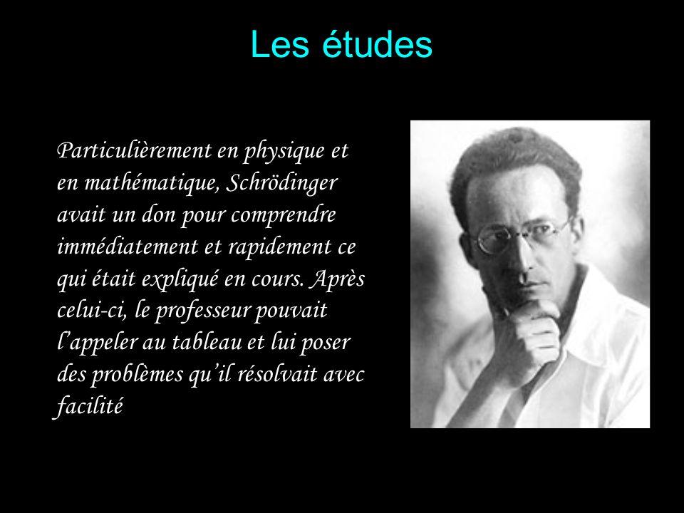 En 1906, à 19 ans, il entre à luniversité de Vienne Il revendique lhéritage de Boltzmann et de son image intuitive de la physique : « Boltzmann fut mo