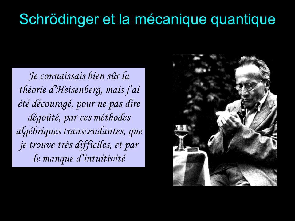 Schrödinger est passionné de philosophie Il se réfère souvent à Spinoza, Kant et à la philosophie Hindoue Schrödinger et la philosophie