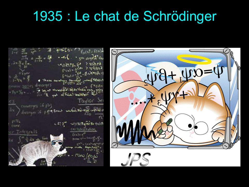 Schrödinger obtient en 1933 le prix Nobel de physique avec Dirac pour «la découverte de formes nouvelles et productives de la théorie atomique» 1933 :