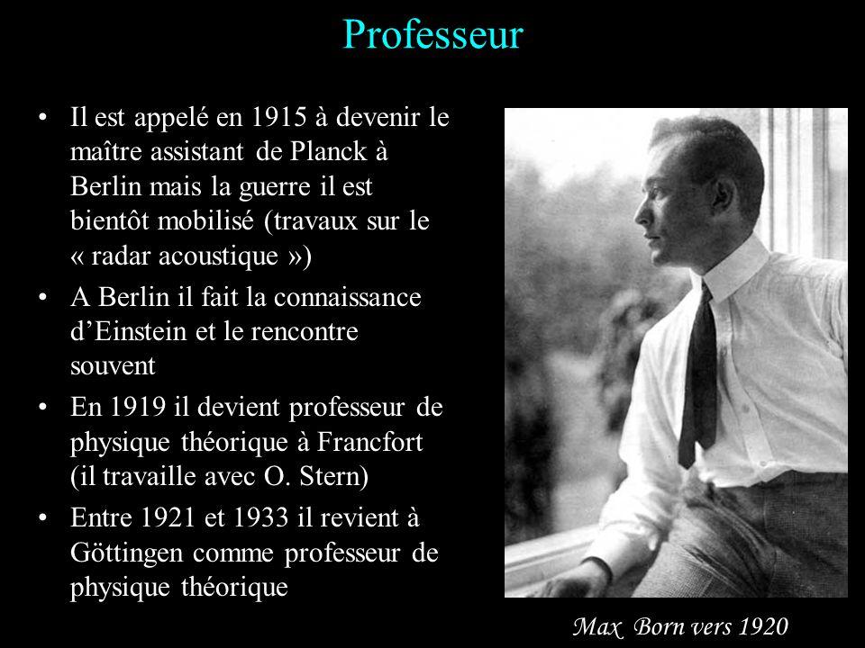 Etudes Max Born naît à Breslau le 11 décembre 1882, cest dans cette ville quil fait ses études secondaires Entre 1901 et 1906 il étudie successivement