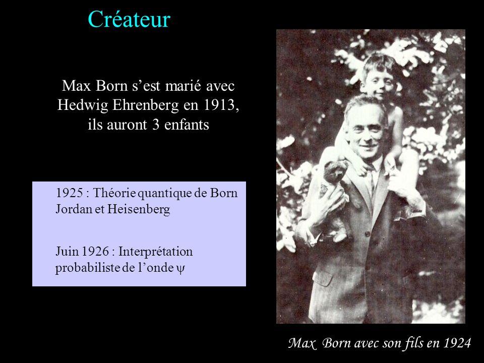 Max Born à Göttingen