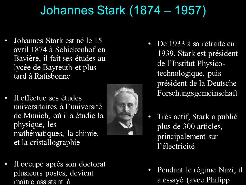 Johannes Stark, Philipp Lenard Lantisémitisme chez deux physiciens du III e Reich