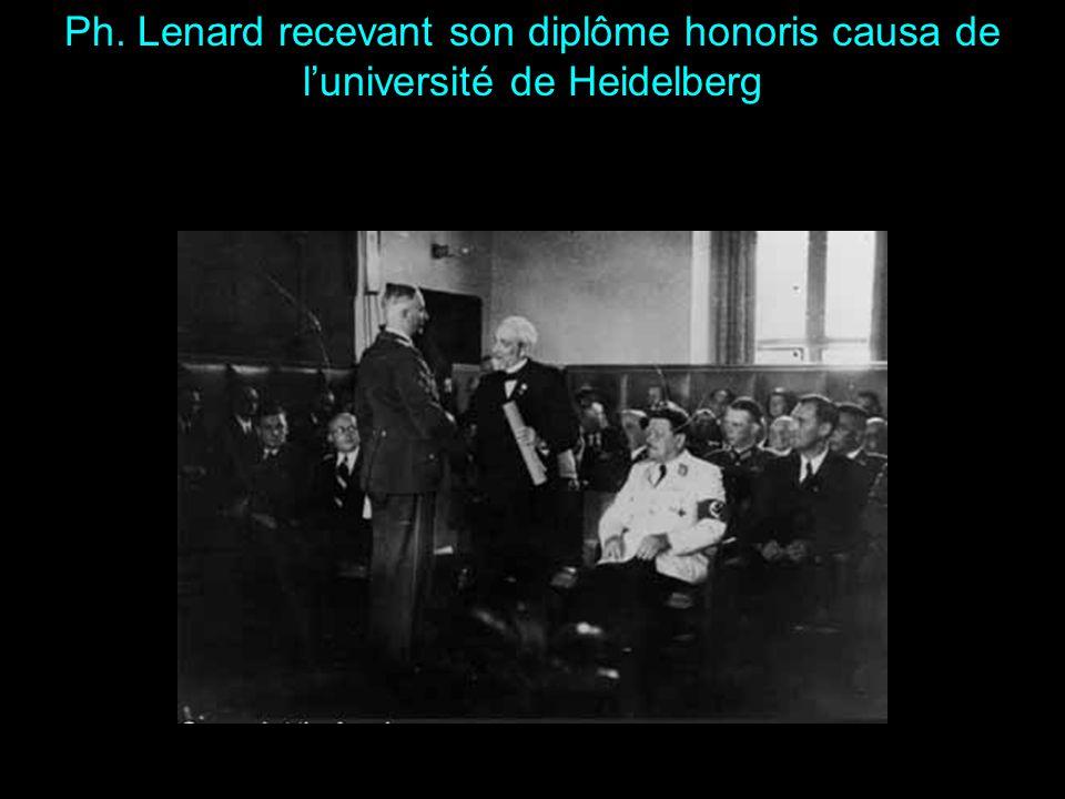 Médaille Franklin (1905) Prix Nobel (1905) Docteur Honoris Causa des Universités de Christiania (1911), Dresde (1922) et Pressburg (1942 ) Protection