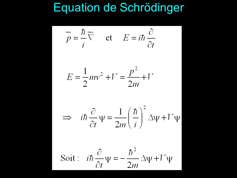 Equation de Schrödinger