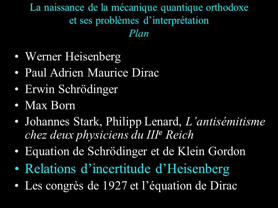 Août 1926 : Statistique de Fermi Dirac En août 1926 Dirac indique Les fonctions propres symétriques... donnent la mécanique statistique de Bose Einste