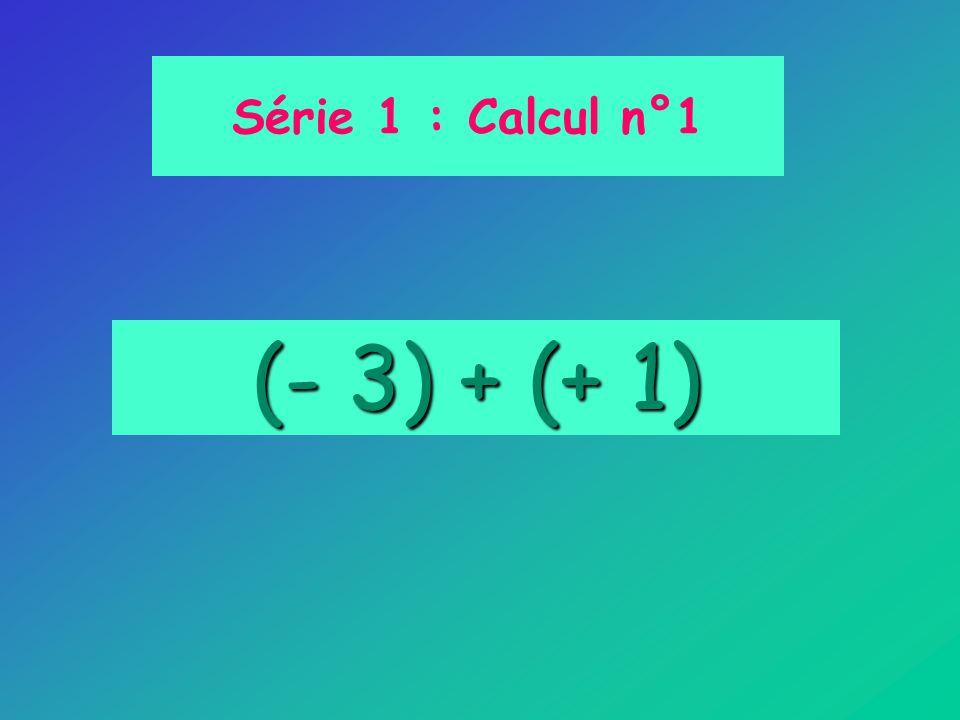 (- 3) + (+ 1) Série 1 : Calcul n°1