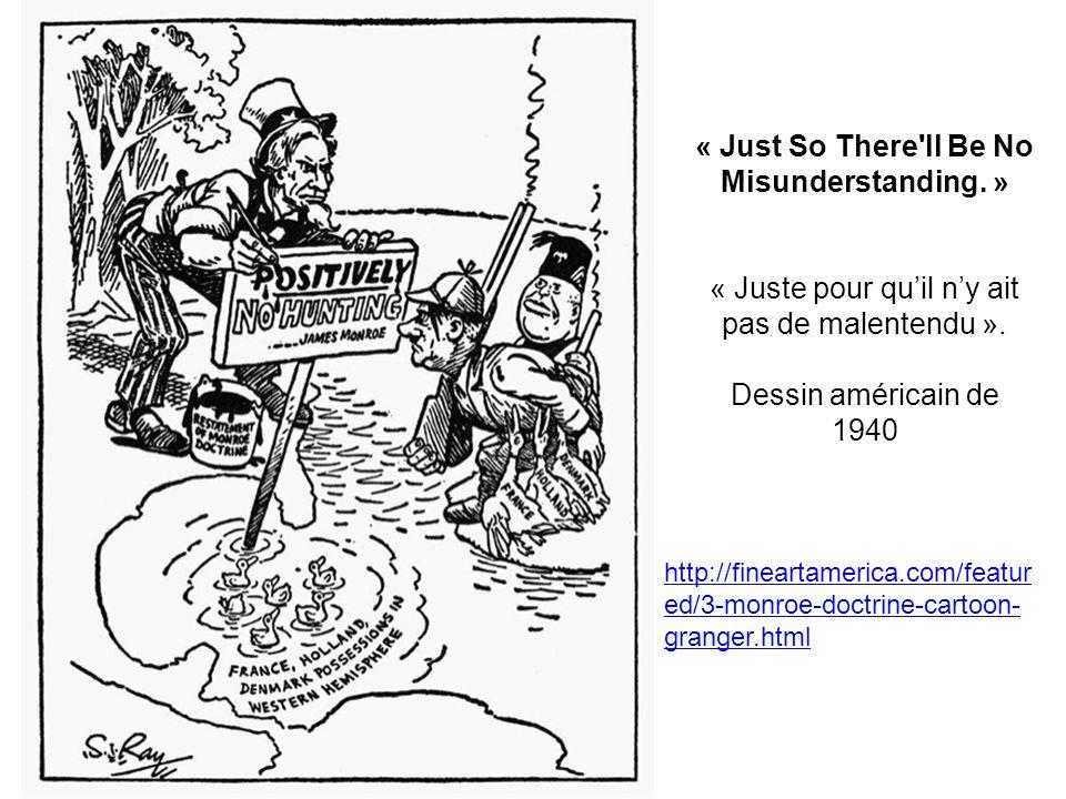 « Just So There'll Be No Misunderstanding. » « Juste pour quil ny ait pas de malentendu ». Dessin américain de 1940 http://fineartamerica.com/featur e