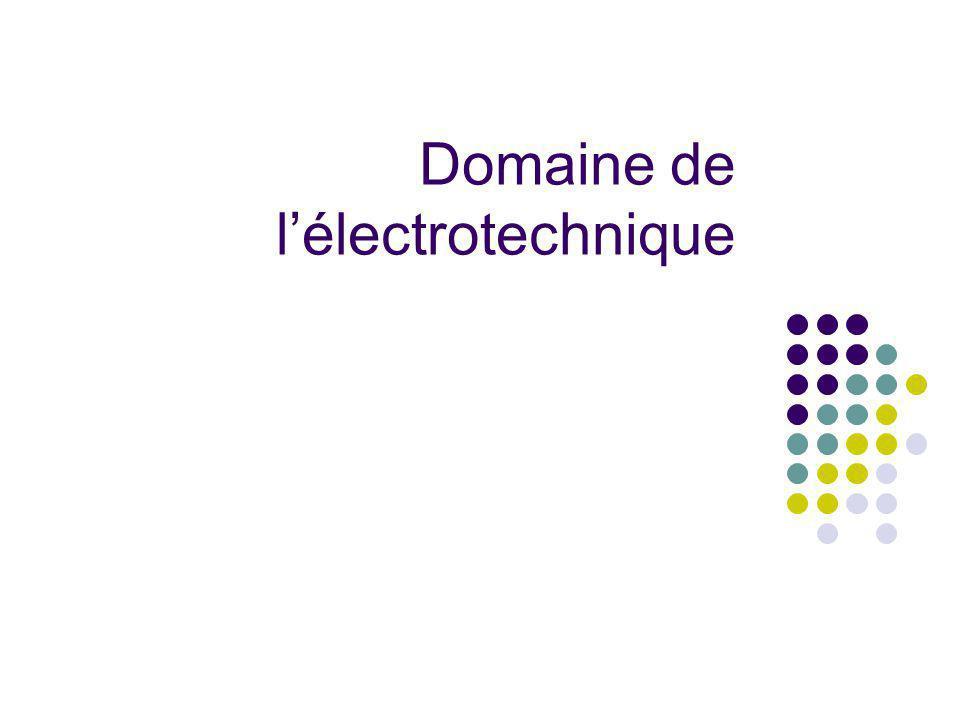 Domaine de lélectrotechnique