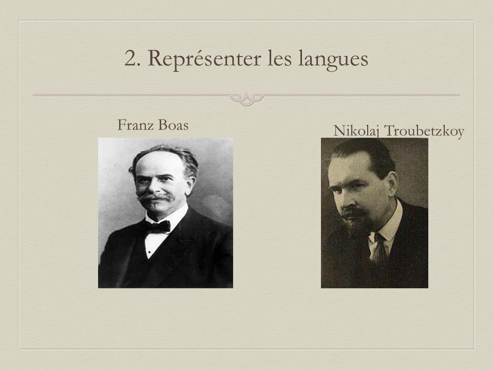 2. Représenter les langues Franz Boas Nikolaj Troubetzkoy