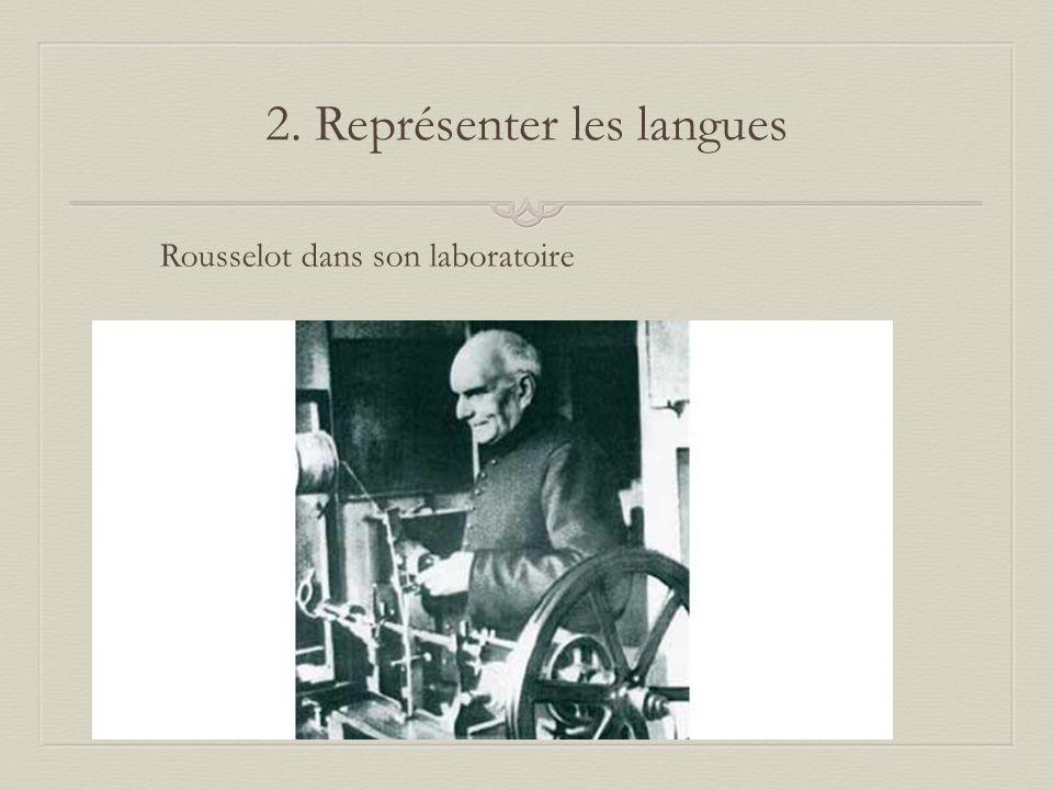 2. Représenter les langues Rousselot dans son laboratoire