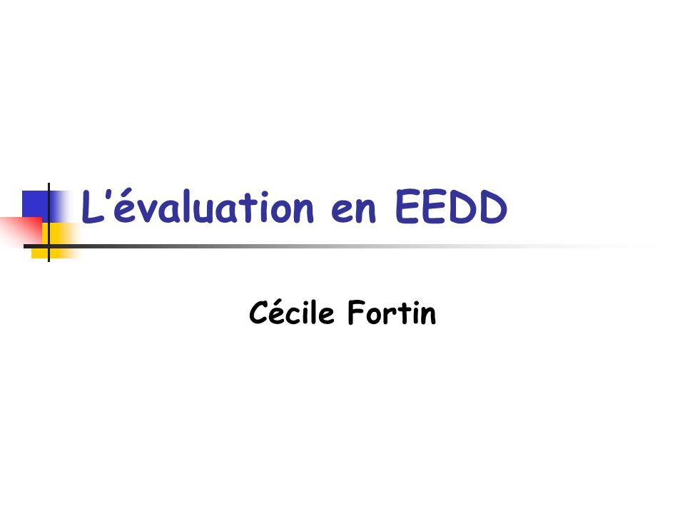 Deuxième partie : les différentes orientations de lEEDD et de lévaluation Lapproche interprétative Exemple dévaluation interprétative (D.