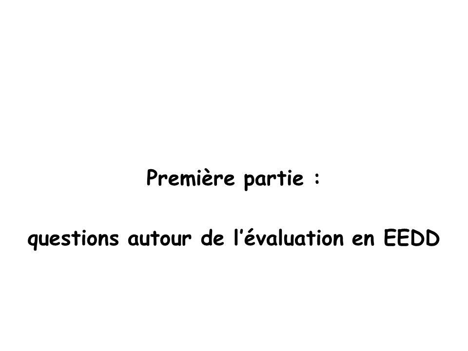 Première partie : questions autour de lévaluation en EEDD