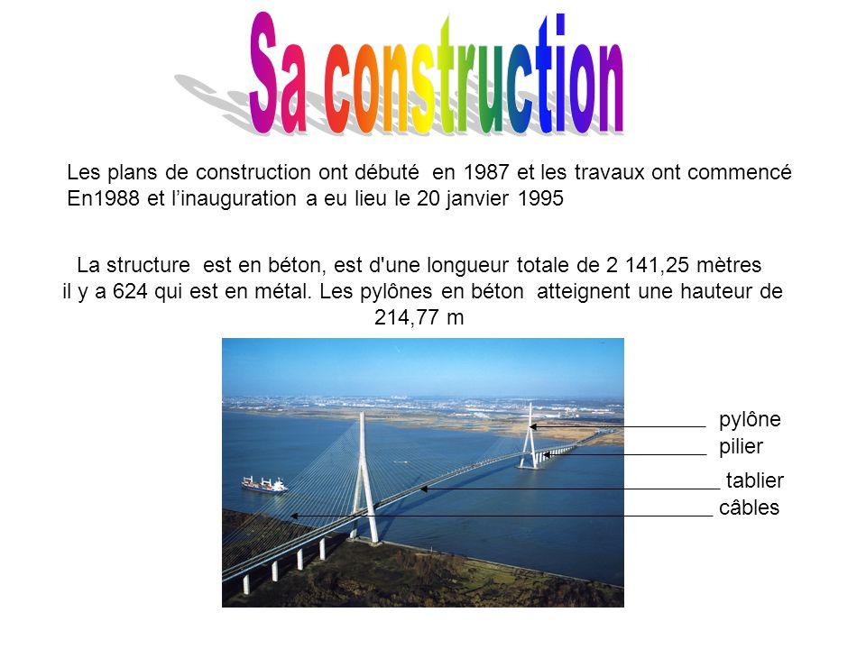 La structure est en béton, est d une longueur totale de 2 141,25 mètres il y a 624 qui est en métal.