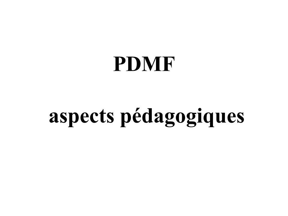 PDMF aspects pédagogiques