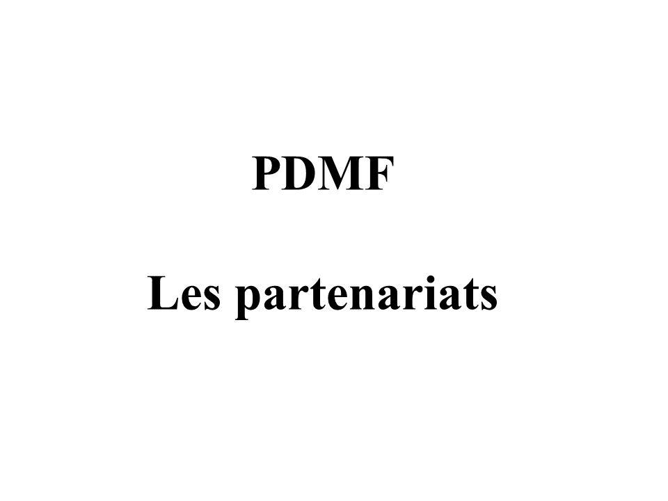 PDMF Les partenariats