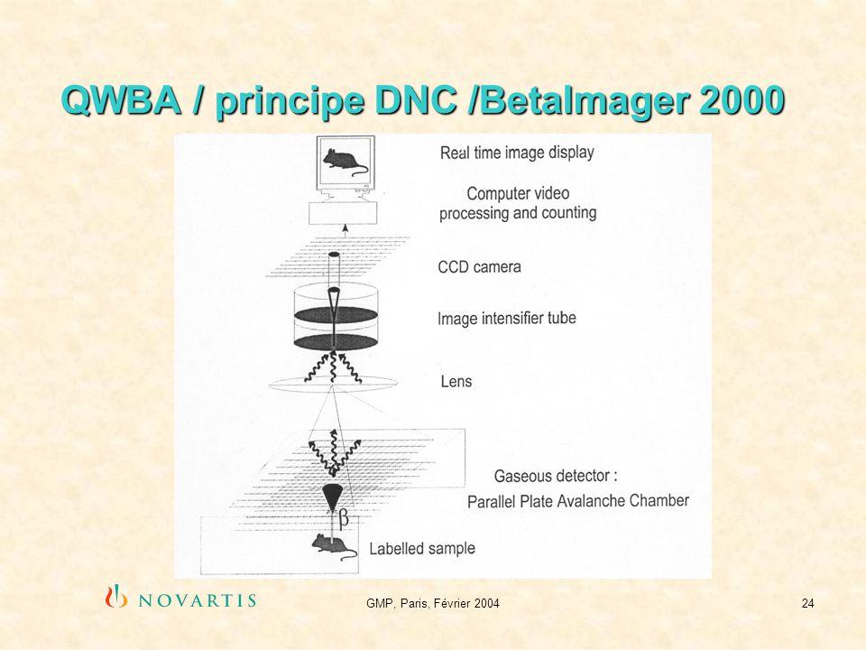 GMP, Paris, Février 200424 QWBA / principe DNC /BetaImager 2000