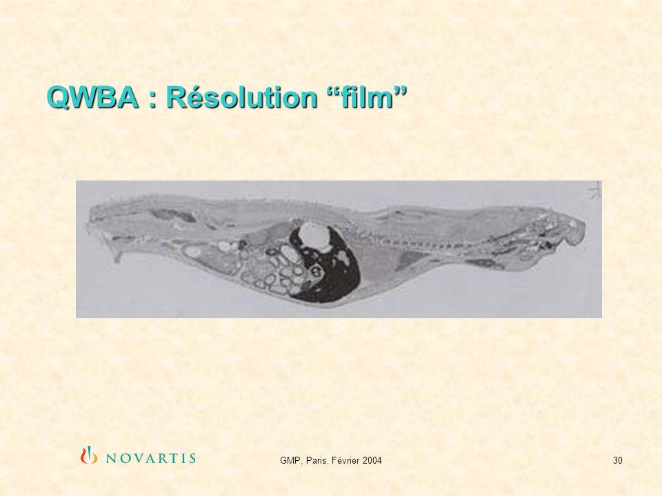 GMP, Paris, Février 200430 QWBA : Résolution film