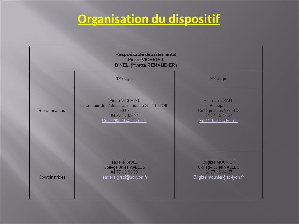 Répartition des 16 postes CRI 2011-2012 « La mission de coordination porte sur un demi-service complété par une intervention en direction des élèves.
