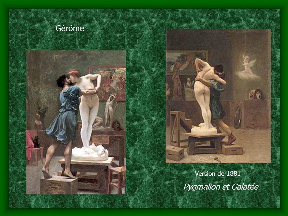Gérôme Pygmalion et Galatée Version de 1881