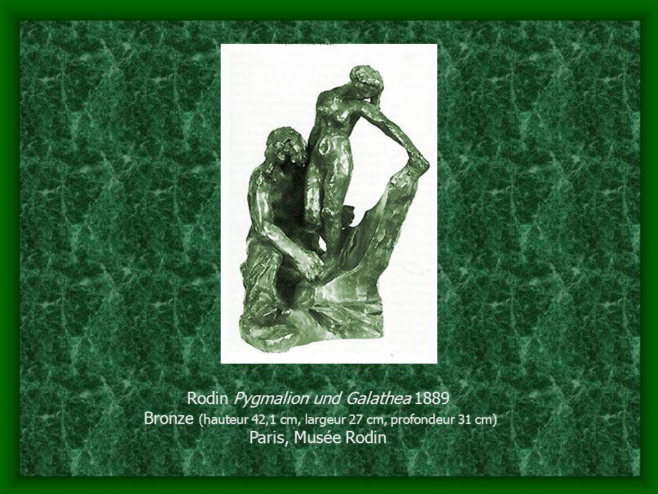 Rodin Pygmalion und Galathea 1889 Bronze (hauteur 42,1 cm, largeur 27 cm, profondeur 31 cm) Paris, Musée Rodin