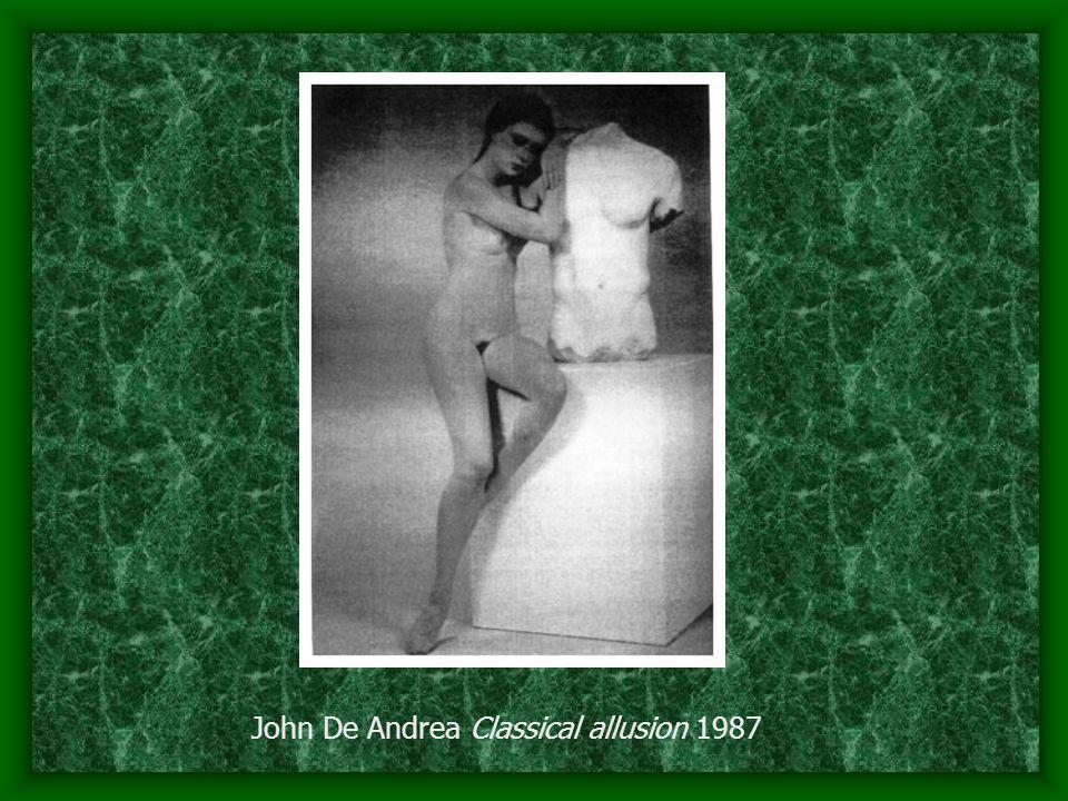 John De Andrea Classical allusion 1987