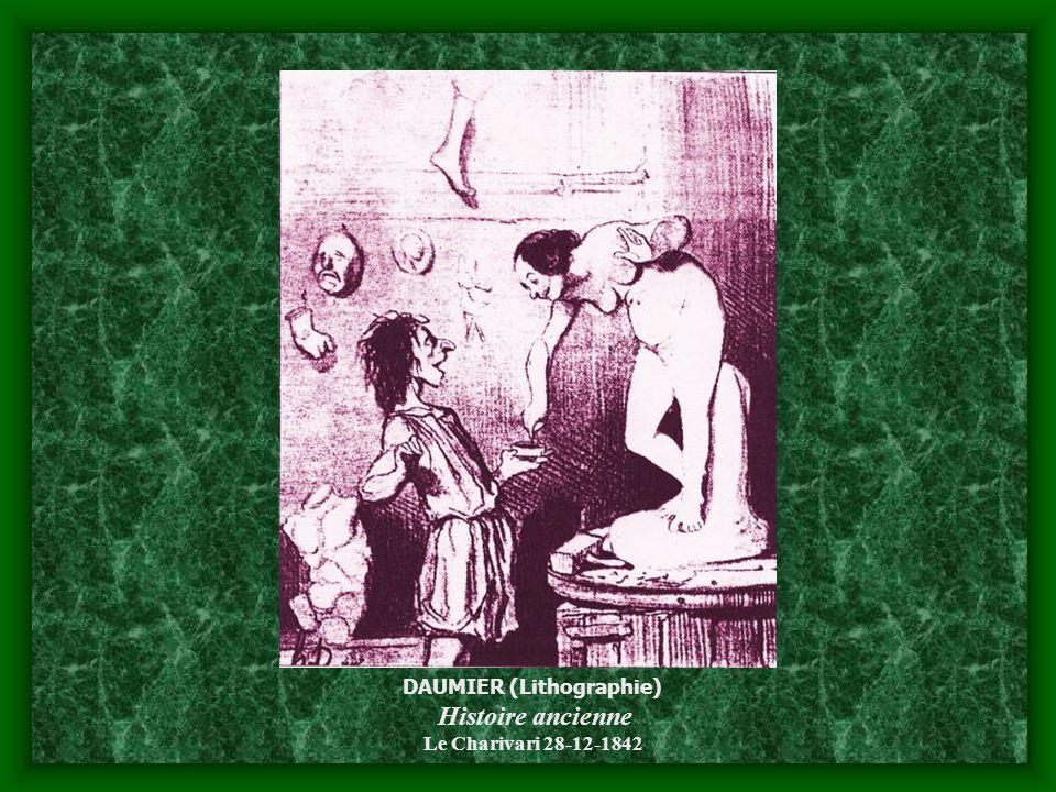 DAUMIER (Lithographie) Histoire ancienne Le Charivari 28-12-1842