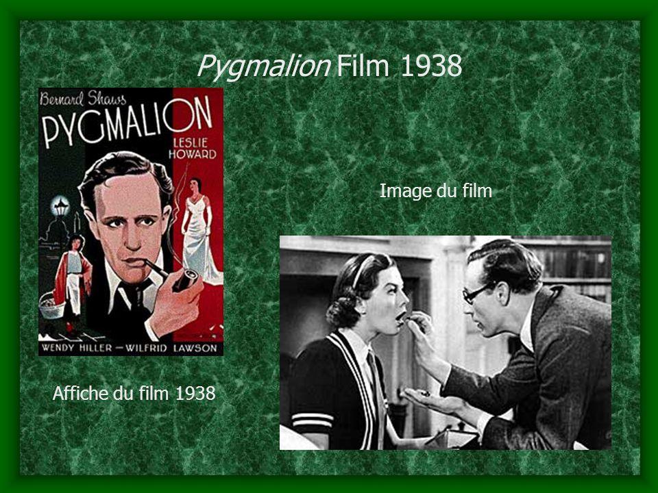 Pygmalion Film 1938 Affiche du film 1938 Image du film