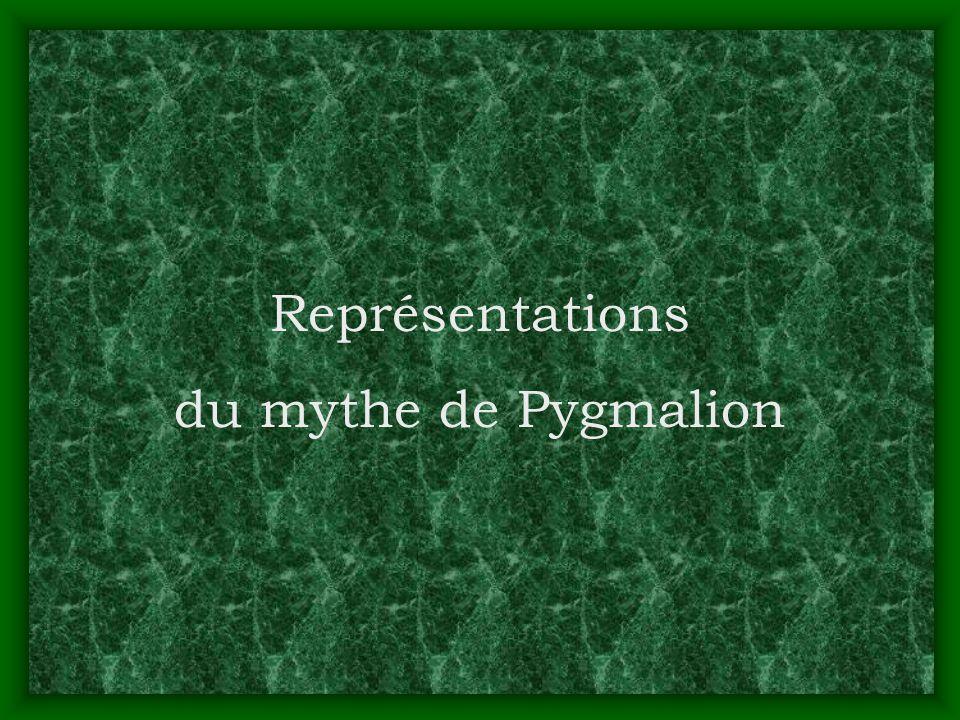 Représentations du mythe de Pygmalion