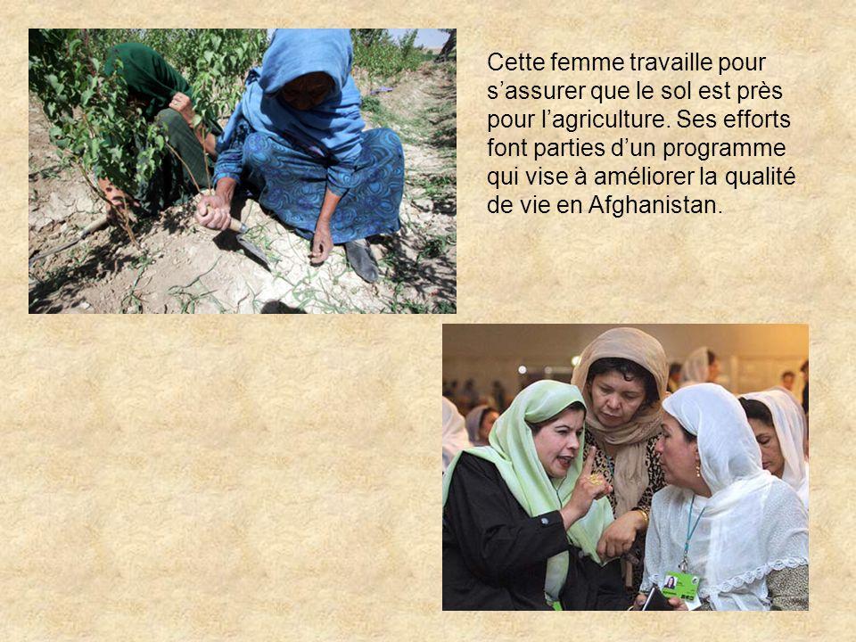 Cette femme travaille pour sassurer que le sol est près pour lagriculture.