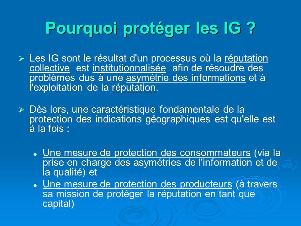 Pourquoi protéger les IG .