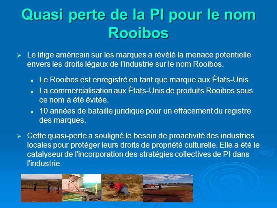Quasi perte de la PI pour le nom Rooibos Le litige américain sur les marques a révélé la menace potentielle envers les droits légaux de l industrie sur le nom Rooibos.