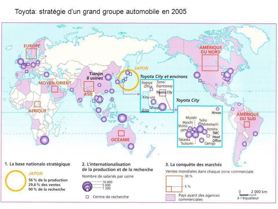Toyota: stratégie dun grand groupe automobile en 2005