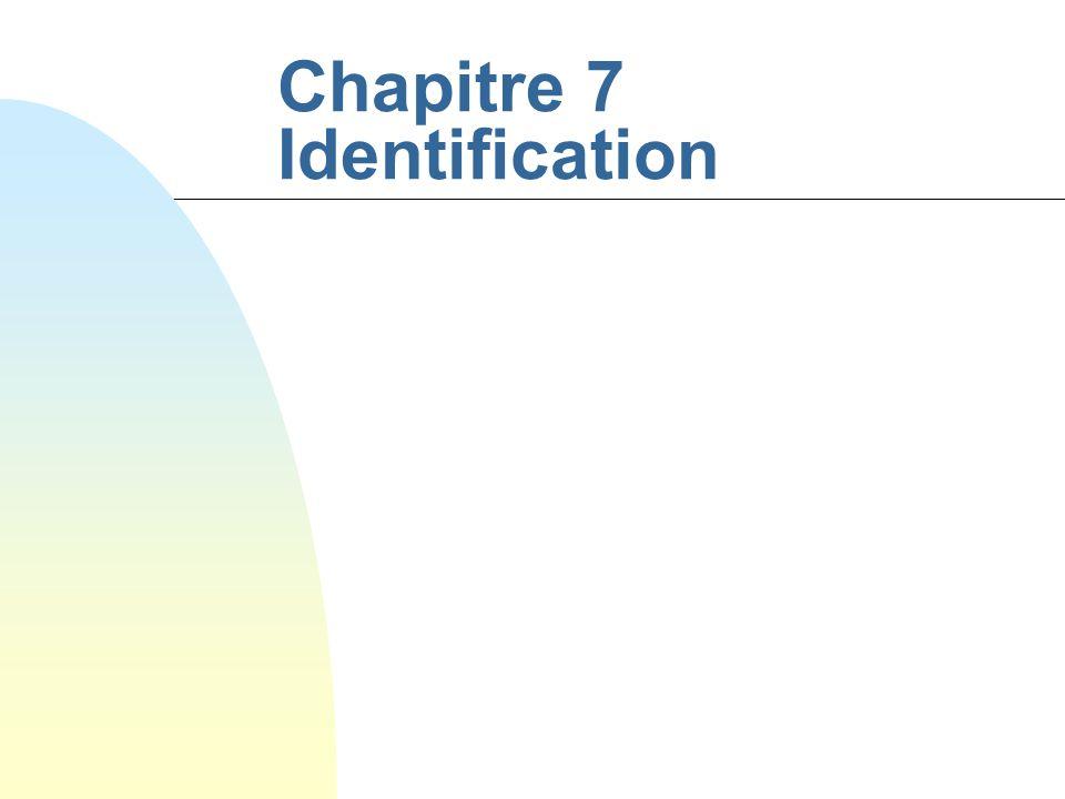 Chapitre 7 Identification