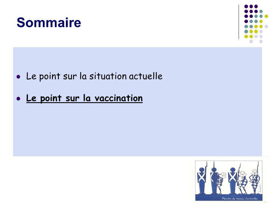 Sommaire Le point sur la situation actuelle Le point sur la vaccination