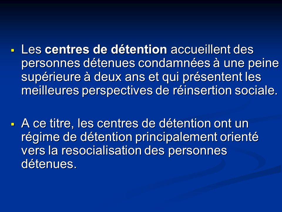 Les centres de semi-liberté reçoivent des personnes condamnées, admises au régime du placement extérieur ou de la semi-liberté.