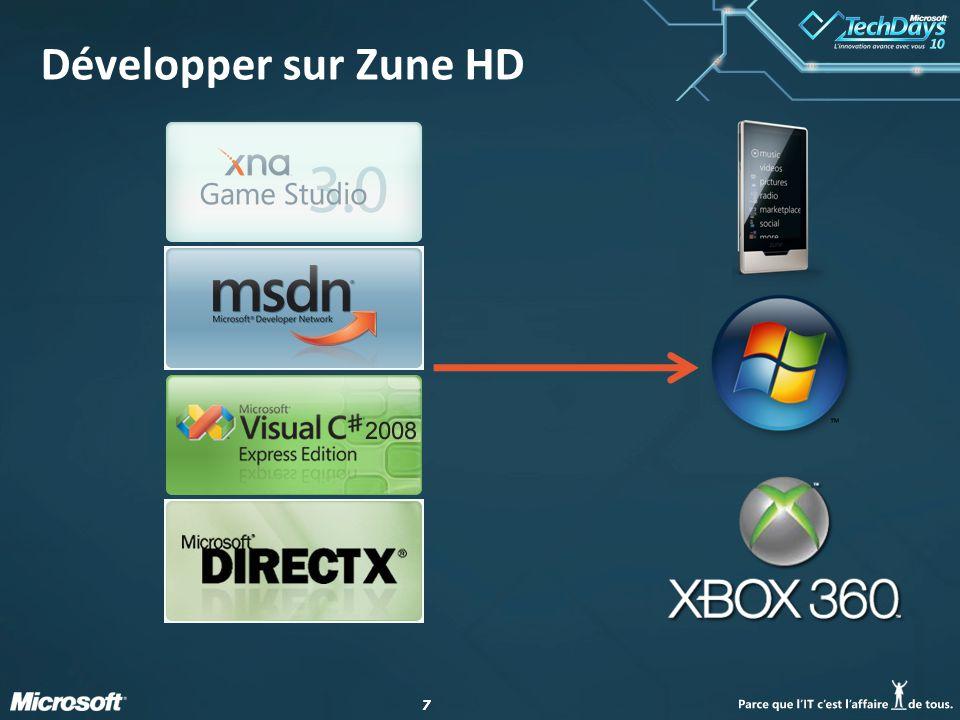 77 Développer sur Zune HD