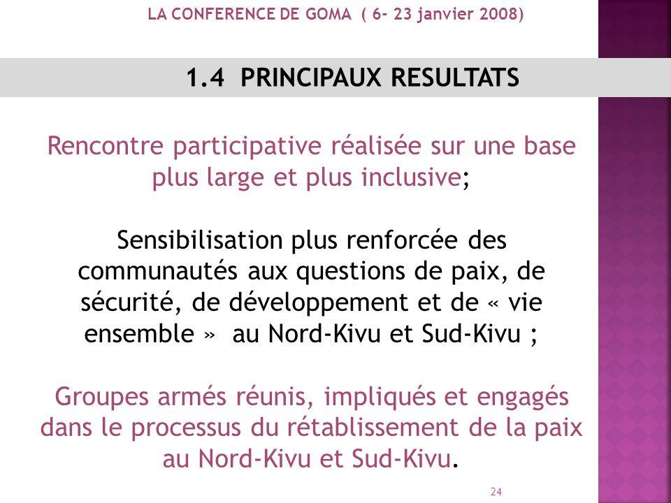 23 Groupes armés Nord-Kivu CNDP, Mouvement Politico-militaire ; PARECO/N-K ; Mai-Mai Kasidien ; Mai-Mai Rwenzori ; Mai-Mai Kifuafua, Simba ; Mai-Mai V