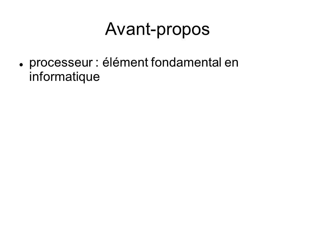 Avant-propos processeur : élément fondamental en informatique