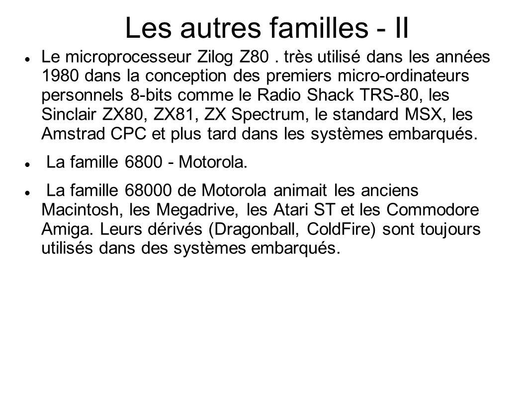 Les autres familles - II Le microprocesseur Zilog Z80.
