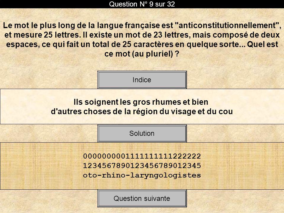 Le mot le plus long de la langue française est