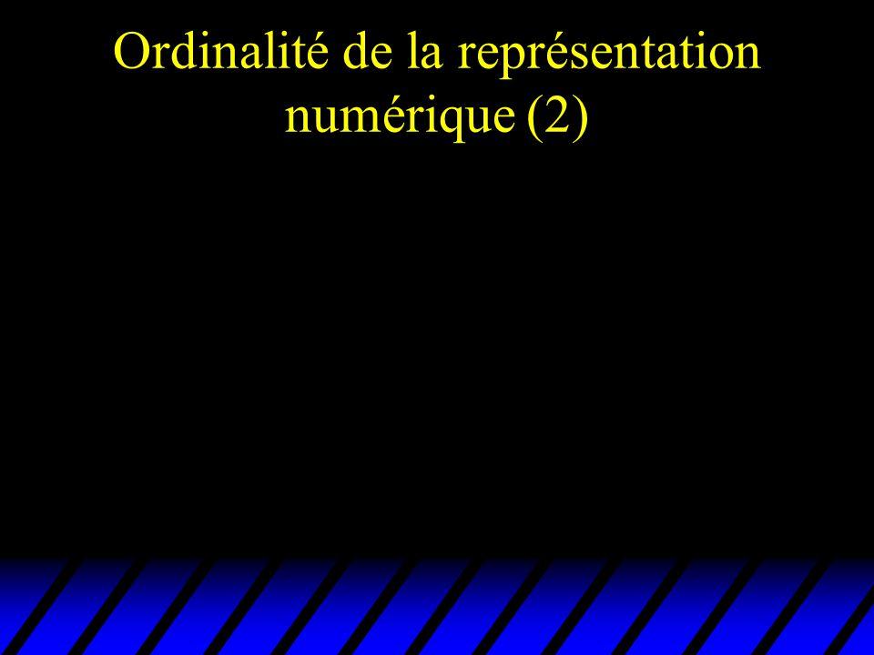 Ordinalité de la représentation numérique (2)