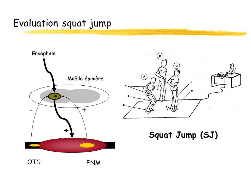 Evaluation squat jump Squat Jump (SJ) OTG FNM Moëlle épinière Encéphale + -+
