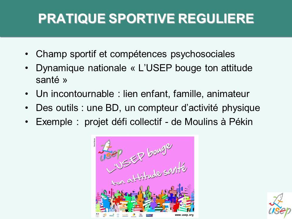 Champ sportif et compétences psychosociales Dynamique nationale « LUSEP bouge ton attitude santé » Un incontournable : lien enfant, famille, animateur