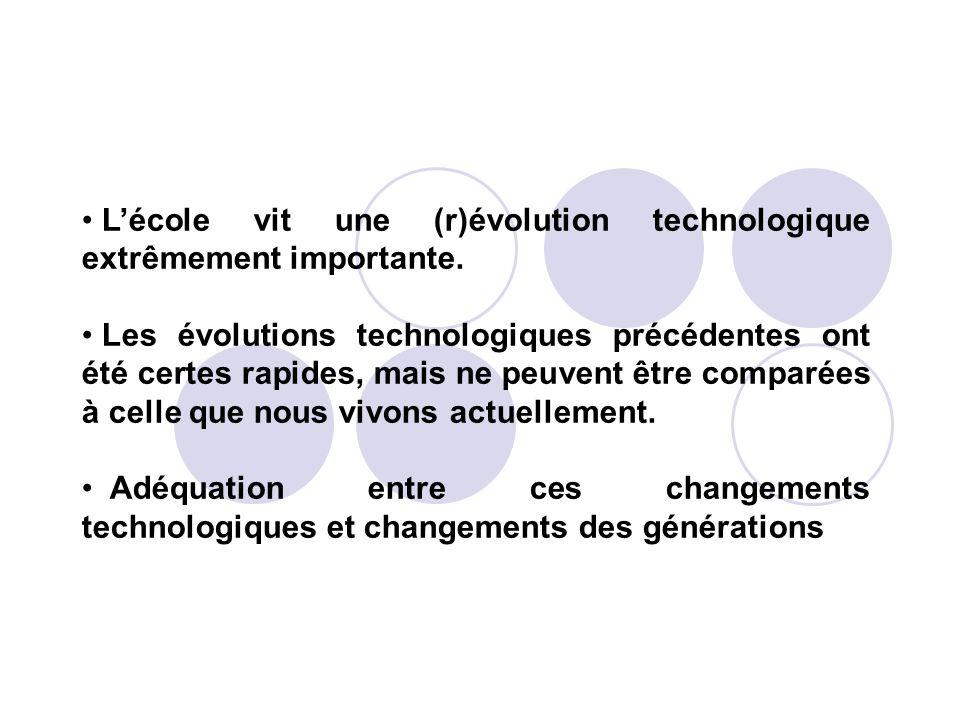 Lécole vit une (r)évolution technologique extrêmement importante. Les évolutions technologiques précédentes ont été certes rapides, mais ne peuvent êt