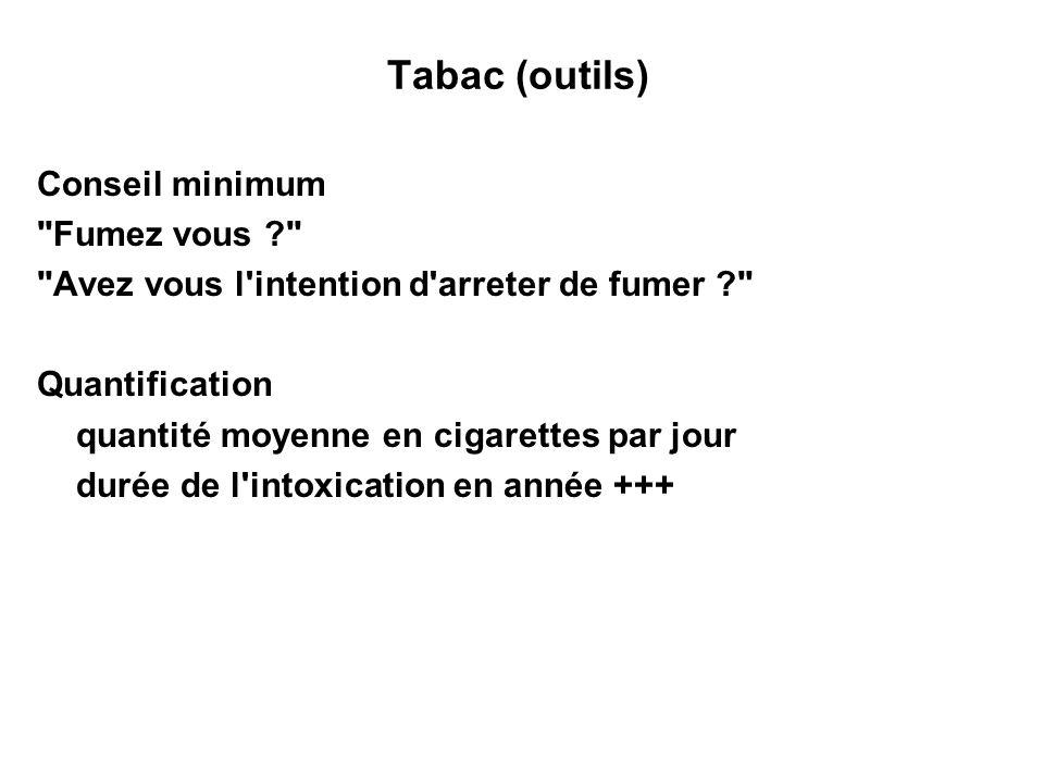 Tabac (outils) Conseil minimum