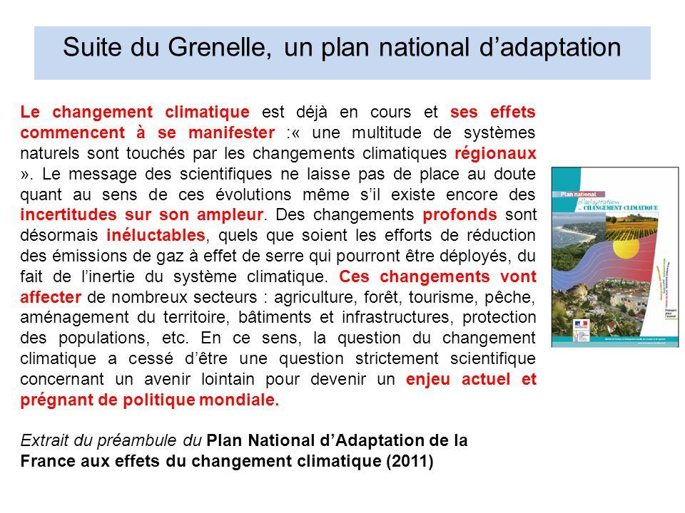 Le changement climatique est déjà en cours et ses effets commencent à se manifester :« une multitude de systèmes naturels sont touchés par les changements climatiques régionaux ».